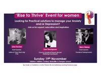 Rise to Thrive Event for Women - Practical solutions to manage Anxiety & Depression