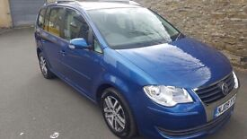2009 Vw Touran 1.9 Tdi Great Family 7 Seater Superb Brilliant Drives Nice Clean Family Mpv