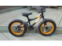"Boys 16"" Mighty Bigfoot Fat Wheeled bike (New)."