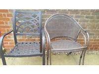 Garden metal chairs