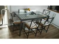 Ikea Glass topped table & 4 chairs