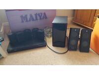 Samsung surround sound, bass and blue ray player