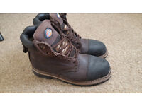 Used Dickies Crawford Safety Boots Brown Size 7