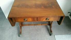 Drop leaf Table with drawers