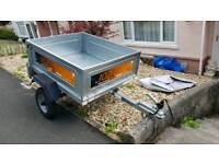 Erde classic 102 tipper trailer with cover