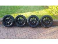 """17"""" black alloys with tyres"""