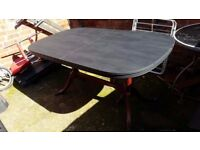 wooden dinning table for six chairs ( painted in black)