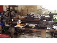 Metal lathe for sale older style suit handy man or farm workshop single phase
