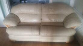 2 Luxury Leather Sofas