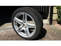 BMW car winter tyres and alloy, set of 4, nearly brand new, still in warranty