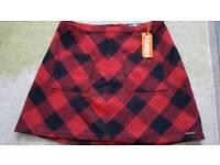 BNWT Superdry size 16 mini skirt