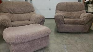 Chairs and Ottoman for sale