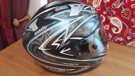 KBC Full Face Crash Helmet - With Protective Bag - S/M