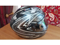 KBC Full Face Crash Helmet - With Protective Bag - S/M