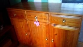Solid wood dresser for sale. Sturdy.