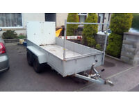 Large trailer with 4 sides and ramp, perfect for gardening jobs or lawnmower. Can deliver