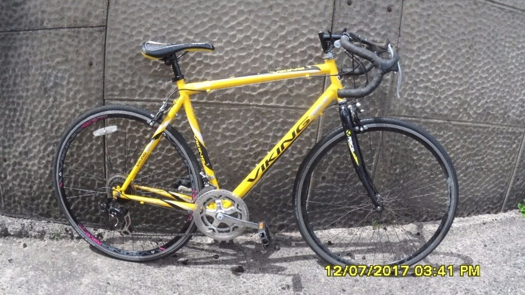 VIKING RACE 14 SPEED RACING BIKE 21in/54cm FRAME EVERYTHING WORKING RECENT SERVICE