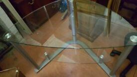 Corner glass tv stand