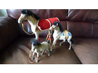 Horse and Pony Lovers! Family set of toy horses