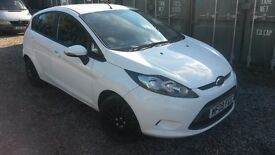 NEW STYLE FIESTA DIESEL 5 DR IN WHITE..09 REG.. STYLE PLUS..AIR CON..ELECTRIC WINDOWS..BLACK TRIMS..