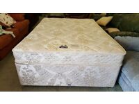 Slumberland Divan Bed & Mattress In Excellent Condition