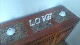 *beautiful* wooden side board