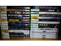 Xbox 360 games and Wii games