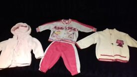9-12 months (girl) coat, costume and sweater