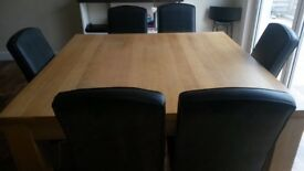 Excellent large Family wooden dining table 1.4m x 1.4m
