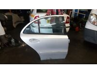 Mercedes E class e220 W211 saloon complete o/s right rear door Silver 744 glass