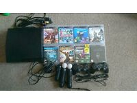 140gb Ps3 with 2 controllers and playstation move