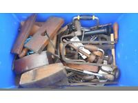 Box of Vintage Hand Tools