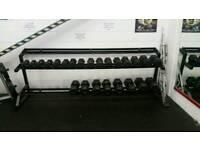 Dumbells set and rack