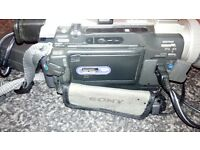 sony mini dv large lcd screen chARGER LEADS ETC