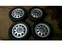 "Genuine set alloy wheels 15"" Audi A3 Seat Skoda Volksvagen 5x100 POSTAGE available"