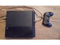 PLAYSTATION 4, BLACK - 500GB - GOOD CONDITION - £135