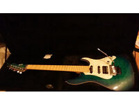 ESP E-II ST-1 QM - Aqua Marine with hard case (Electric guitar)