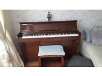 Free to good home. Low back minstrelle piano from Barrett & Robinson buyer collects must go asap