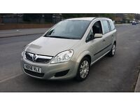 BEAUTYFULL VAUXHALL ZAFIRA 1.6 LIFE 7 SEATER 71.900 MILES ONLY 1 FORMER KEEPER