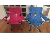 2 kids camping chairs