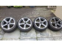 18 inch Wolfrace Genesis Alloys 5/112 with tyres