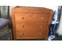 mamas and papas wardrobe and chest of drawers