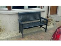 Garden Bench (originally from local garden centre) painted in slate grey colour. Can deliver