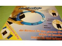 Blue Power Circle Full Body Workout Digital Exercise Muscles Fitness Gym Pilates Ring