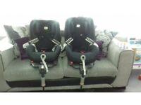Britax safefix car seats x 2