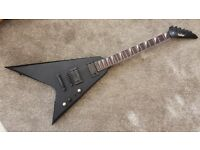 Vintage Metal Axxe rock guitar Jackson Randy Rhoads style in matt black