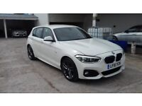 BMW 1 SERIES M SPORT 5 DOOR WHITE WITH RED LEATHERS