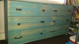 Shabby Chic Chest of 6 Drawers