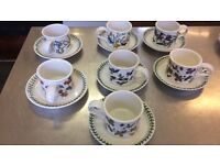 Portmeirion cups and saucers set of 7