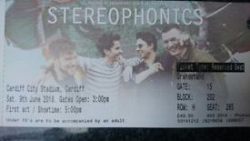 2 x Stereophonics Tickets. Seated Together. Great Seats. Have a look on Ticketmaster's Seating Plan.